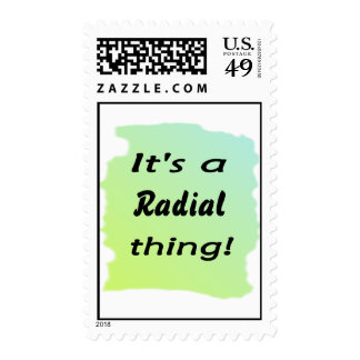 It's a radial thing! postage stamps