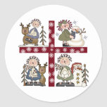 It's a Ragdoll Holiday Round Stickers