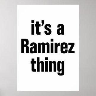 its a ramirez thing poster