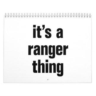 its a ranger thing calendar