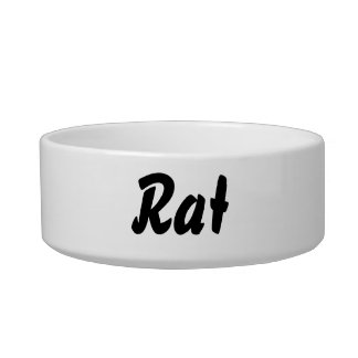 It's a rat thing! cat water bowl