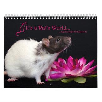 It's a Rat World Calendar 2016