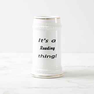 It's a reading thing! mug