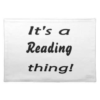 It's a reading thing! placemat