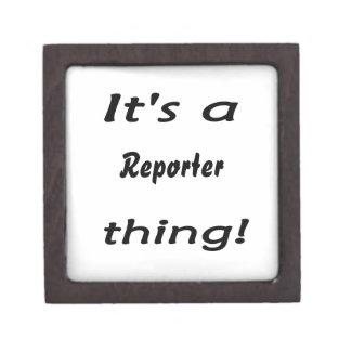 It's a reporter thing! keepsake box
