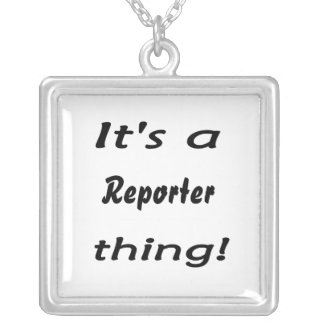 It's a reporter thing! square pendant necklace