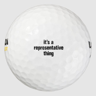 its a representative thing pack of golf balls