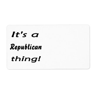 It's a Republican thing! Shipping Label