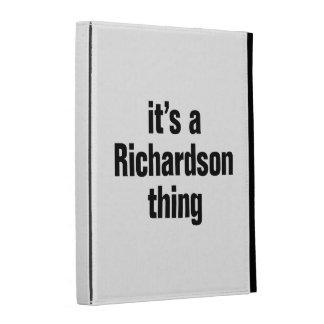 its a richardson thing iPad folio case
