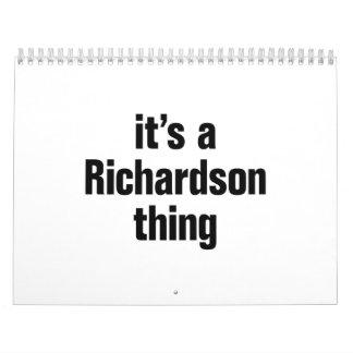 its a richardson thing calendar