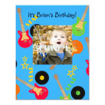"It's a Rock star party time invitation! 4.25"" X 5.5"" Invitation Card"