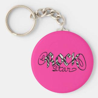 It's a Rock Star world! Basic Round Button Keychain