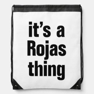 its a rojas thing drawstring backpacks