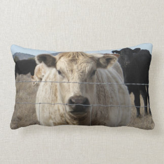 It's a Roundup!  Cattle Herd Western Rural Scene Throw Pillow