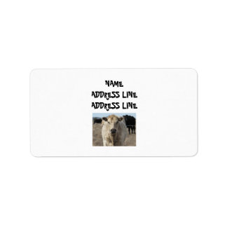 It's a Roundup! Cattle - Western Personalized Address Label