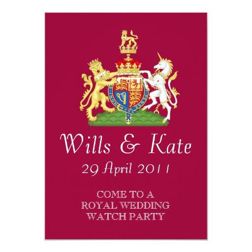 "It's A Royal Wedding Watch Party Invitation 5"" X 7"" Invitation Card"