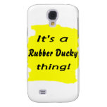 It's a rubber ducky thing! galaxy s4 cover