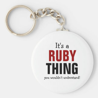 It's a Ruby thing you wouldn't understand Basic Round Button Keychain