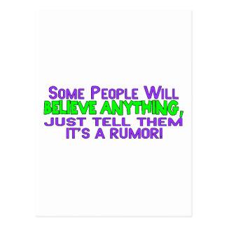 It's A Rumor Postcard