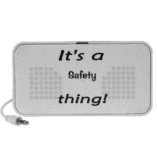 It's a safety thing! mp3 speakers