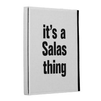 its a salas thing iPad folio cover