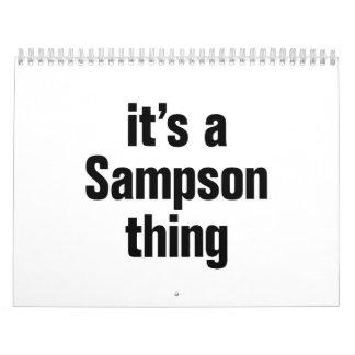 its a sampson thing calendar
