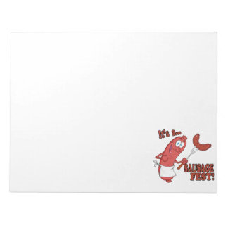 Its a Sausage Fest Funny Sausage Cooking Cartoon Memo Pad