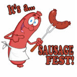 Its a Sausage Fest Funny Sausage Cooking Cartoon Cut Outs