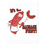 Its a Sausage Fest Funny Sausage Cooking Cartoon Postcard