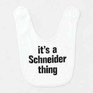 its a schneider thing baby bib