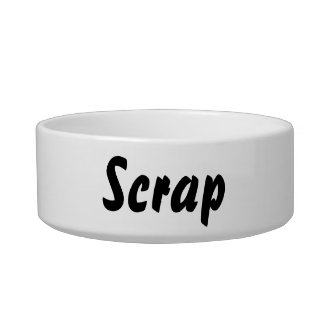 It's a scrap thing! cat water bowl