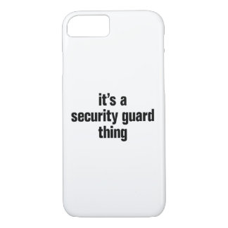 its a security guard thing iPhone 8/7 case