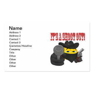 Its A Shoot Out Business Card Template