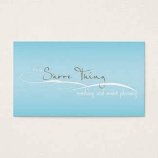 It's a Shore Thing blank business card