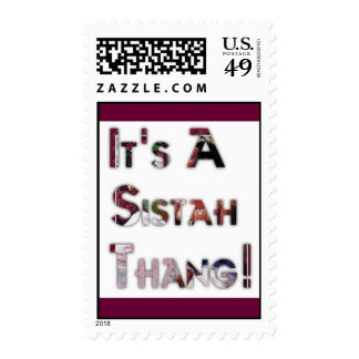 It's A Sistah Thang! Postage Stamp