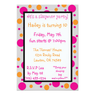 It's a sleepover party!, Hai... Custom Invites