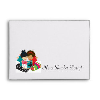 It's a Slumber Party Matching Invite Envelope