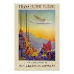 Its A Small World By Pan American Airways Poster