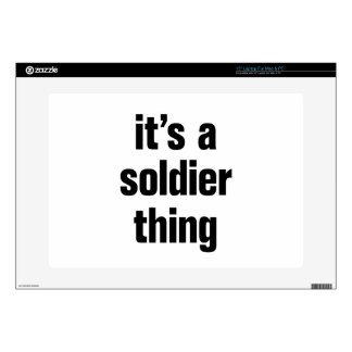 its a soldier thing laptop decals