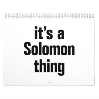 its a solomon thing calendar