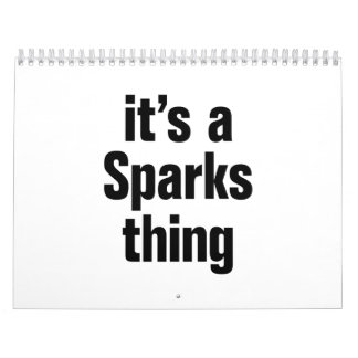 its a sparks thing calendar