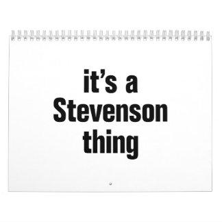 its a stevenson thing calendar