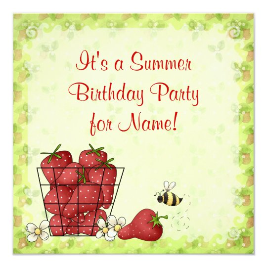 It's A Strawberry Party! Card