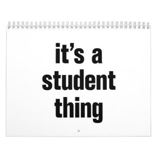 its a student thing calendar