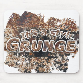It's A Style GRUNGE Rusty Letters Mouse Pad