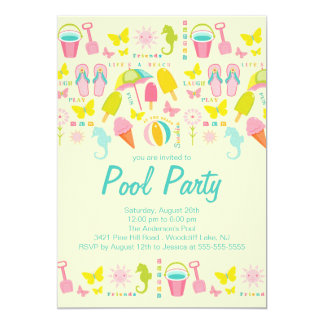 It's a Summer Beach Pool Party Invitation