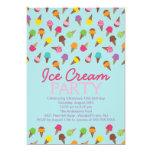 """It's a Summer Ice Cream Party Invitation 5"""" X 7"""" Invitation Card"""