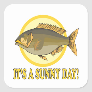 Its A Sunny Day Square Sticker