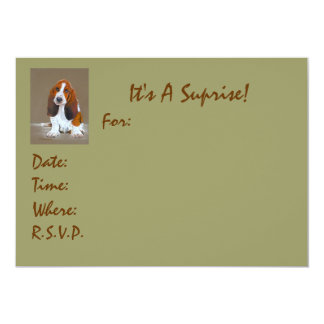 "It's A Suprise!, For:, Date:, Time:, ... 5"" X 7"" Invitation Card"