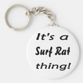It's a surf rat thing! basic round button keychain